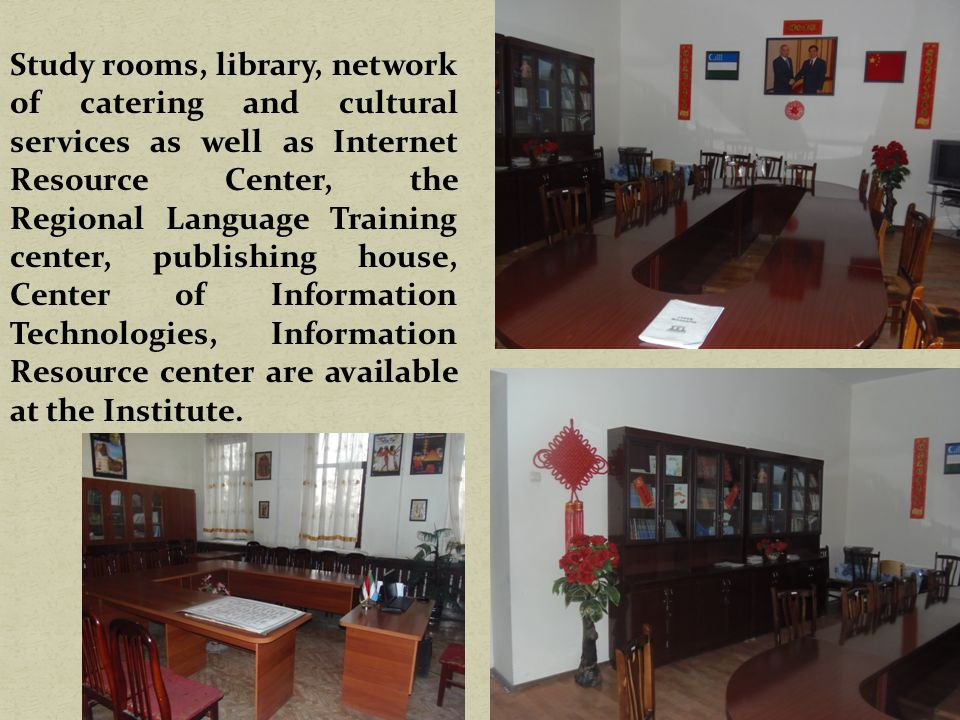 REGIONAL LANGUAGE COURSES The Regional Language Center of Samarkand State Institute of Foreign Languages offers Uzbek, Russian, English, German, French, Spanish, Italian, Chinese, Korean, Japanese and other language courses for native and international students in individual and group studies.