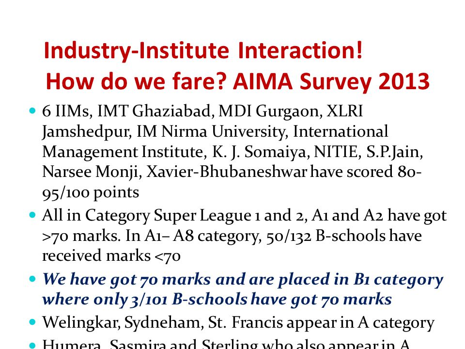 Industry-Institute Interaction. How do we fare.