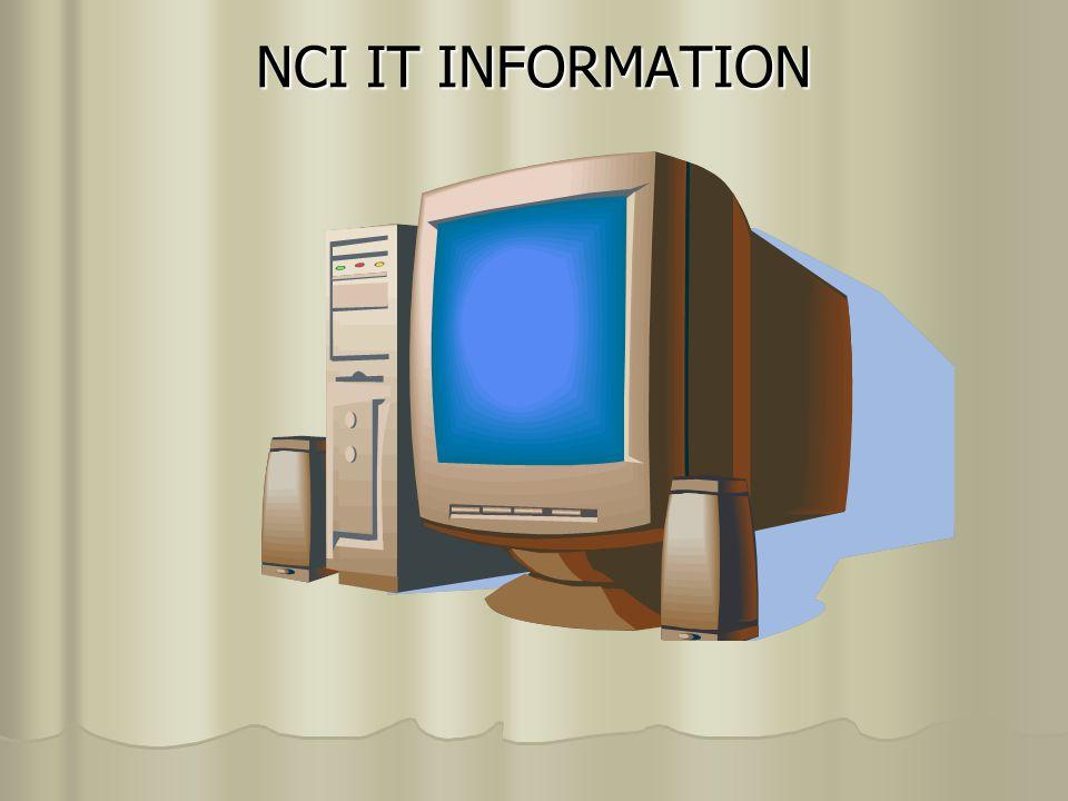 NCI IT INFORMATION