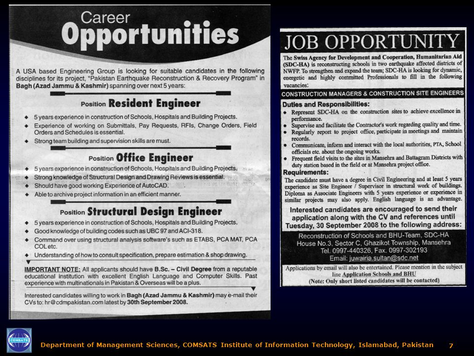 Department of Management Sciences, COMSATS Institute of Information Technology, Islamabad, Pakistan 17 Project Management Literature (Some graphics in this section contain embedded web-hyperlinks) Just Click on Them!