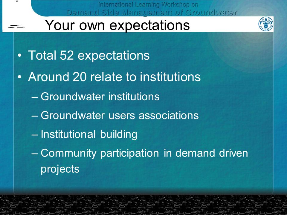Dr.Govardhan Das's Presentation If groundwater management exists Who are the managers.