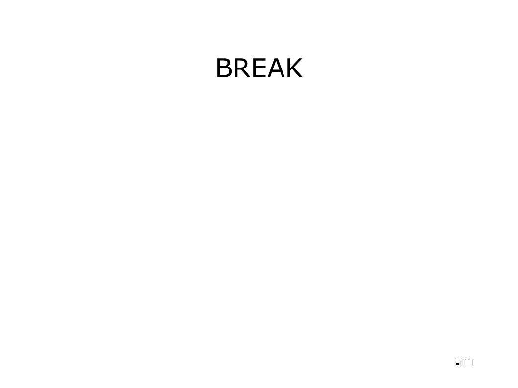 40 BREAK