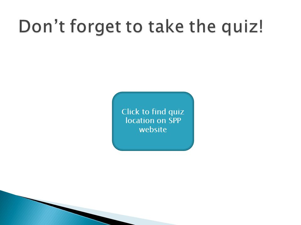 Click to find quiz location on SPP website