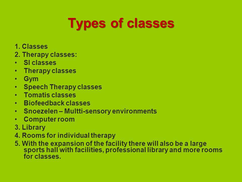 Types of classes 1. Classes 2.