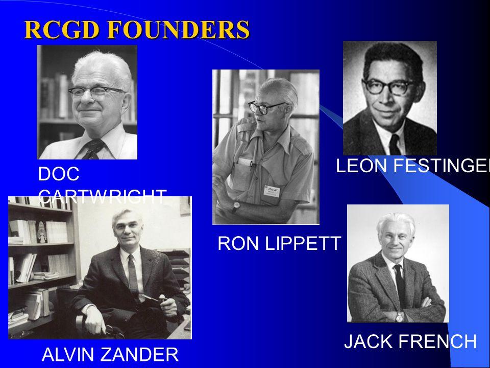 RCGD FOUNDERS ALVIN ZANDER RON LIPPETT LEON FESTINGER DOC CARTWRIGHT JACK FRENCH