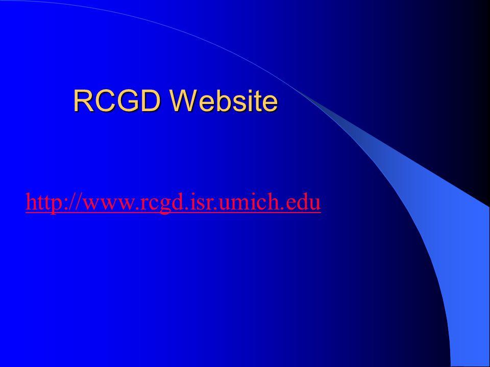 RCGD Website http://www.rcgd.isr.umich.edu