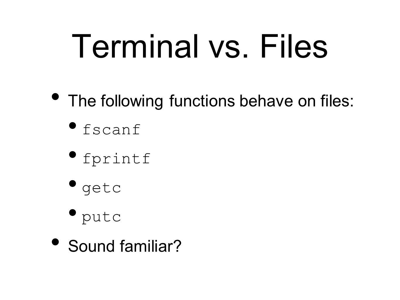 Terminal vs.