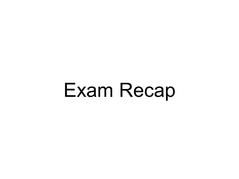 Exam Recap