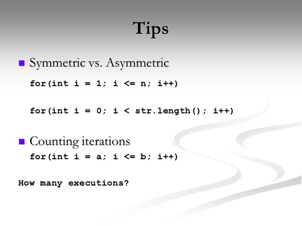 Tips Symmetric vs. Asymmetric Symmetric vs.