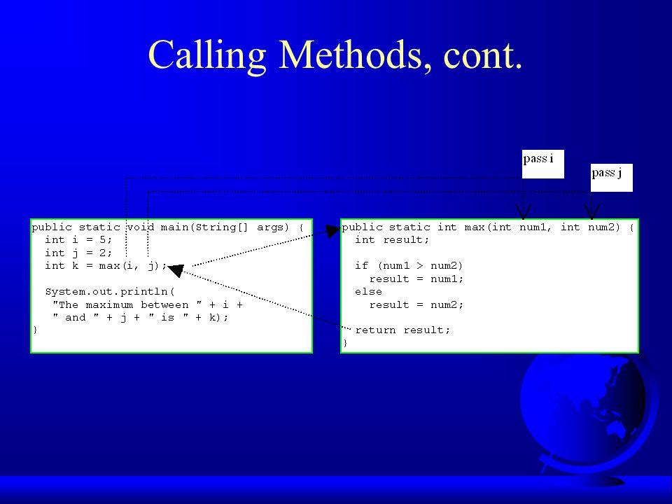 Example 4.5 Obtaining Random Characters Write the methods for generating random characters.