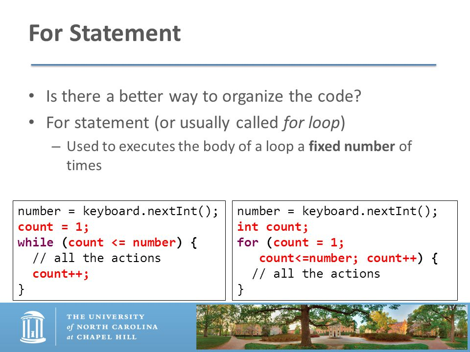 For Statement Is there a better way to organize the code.