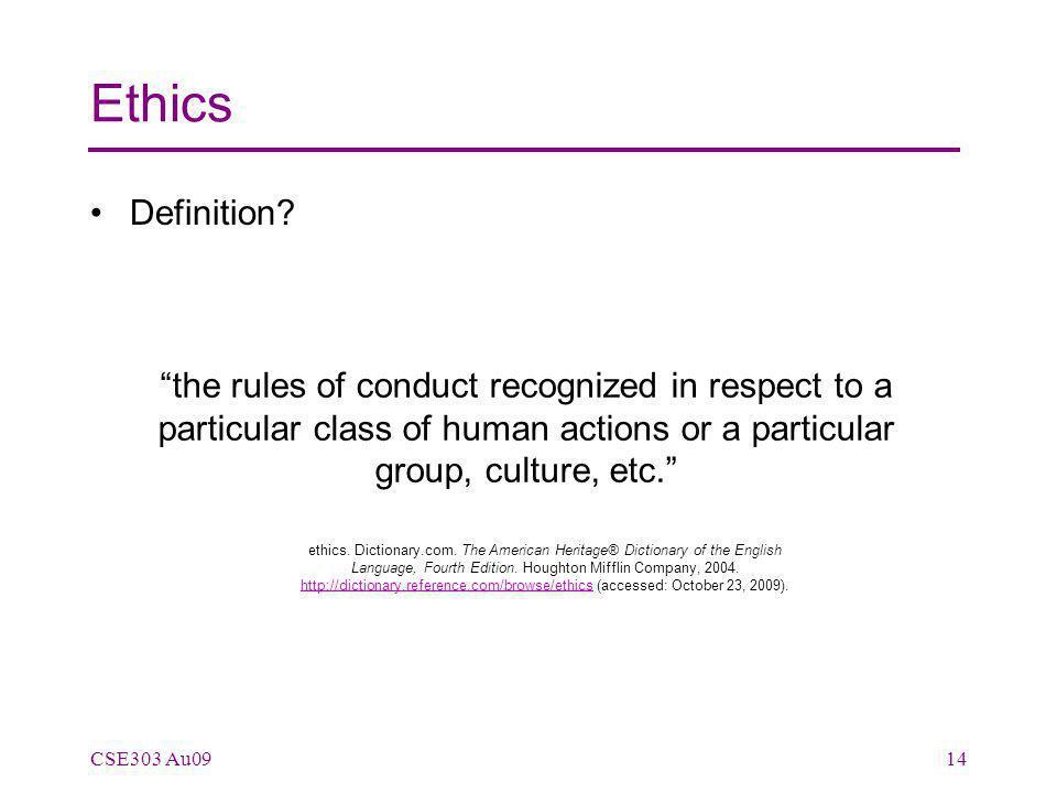 Ethics Definition.