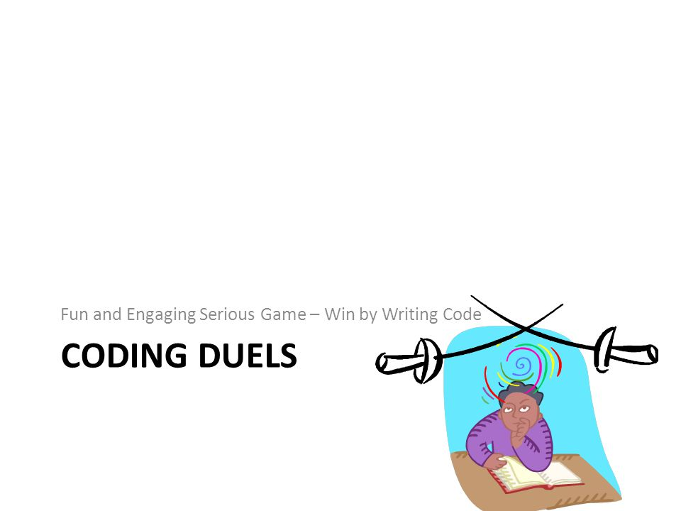 CODING DUELS Fun and Engaging Serious Game – Win by Writing Code