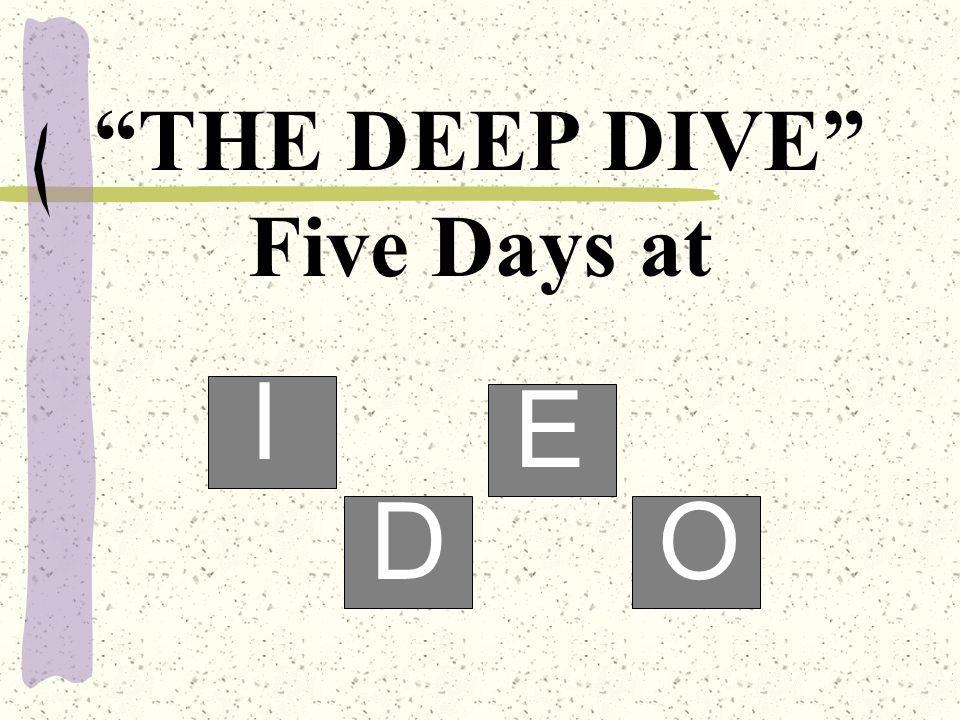 THE DEEP DIVE Five Days at I D E O