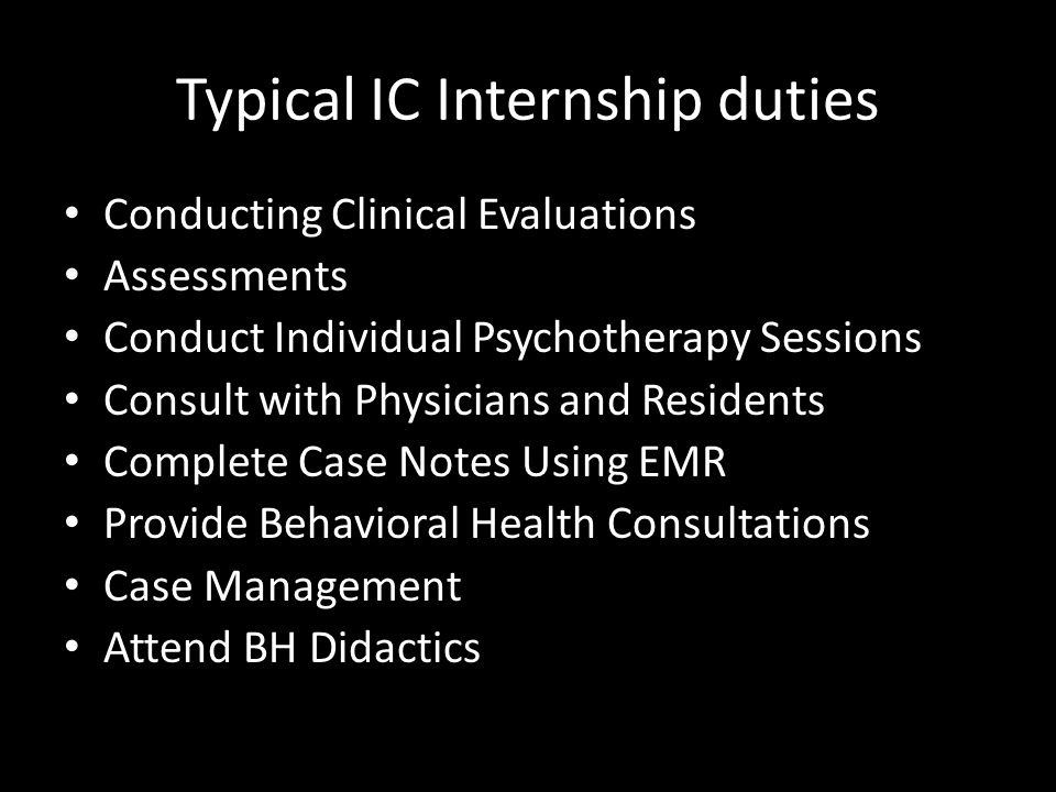 5. Internship in Integrated Care