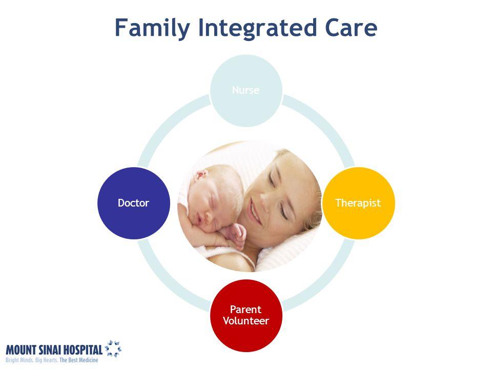 Family Integrated Care NurseTherapist Parent Volunteer Doctor