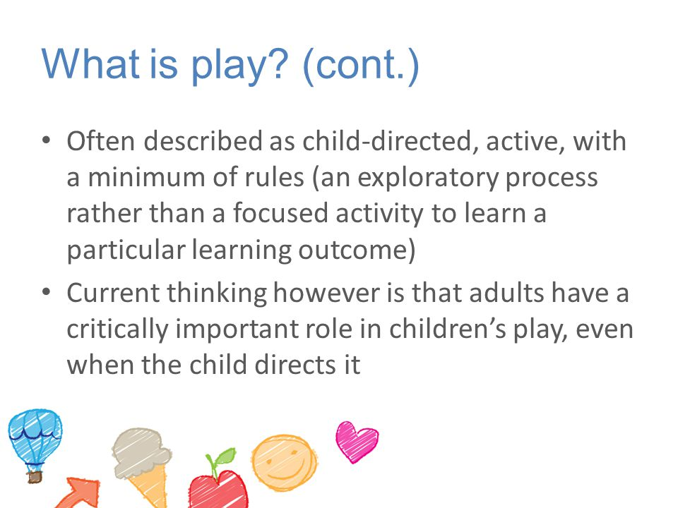 Effective Provision of Preschool education study A balance across a range of curriculum areas rather than an excessive focus on creative or physical development experiences A deliberate effort to plan, scaffold and progress children's learning in mathematics, literacy and science Use of small group experiences, games and other play-based approaches to promote children's sustained, active engagement as learners