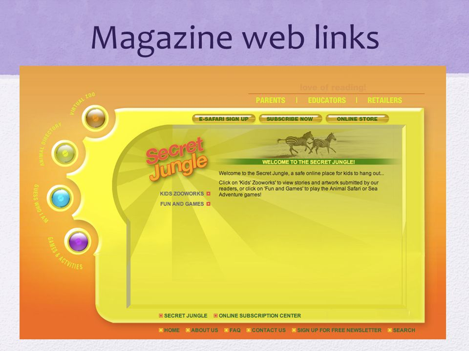 Magazine web links