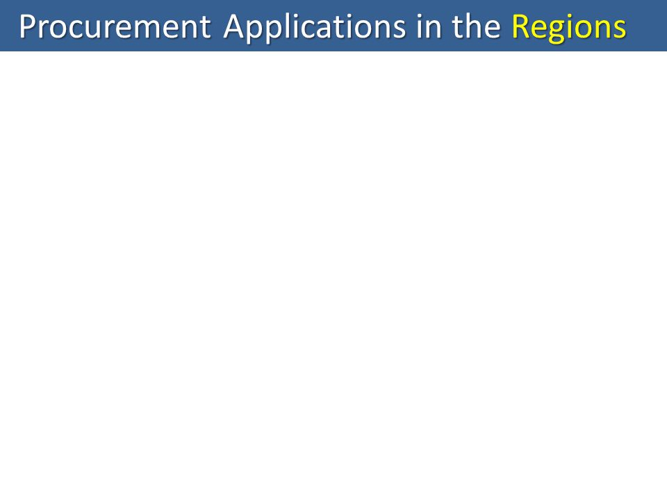 Procurement Applications in the Regions
