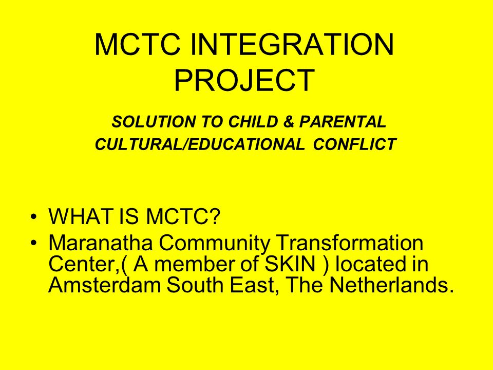 WHAT IS MCTC.