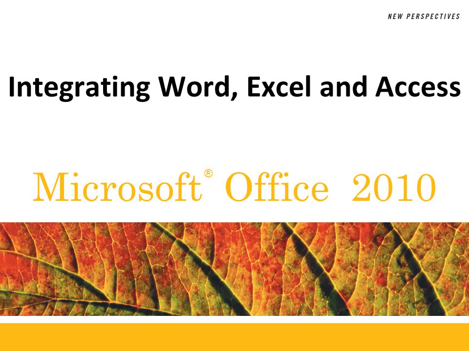 XP Objectives Learn about importing and exporting data Import an Excel list into an Access database Query an Access database Export an Access query to a Word document New Perspectives on Microsoft Office 20102