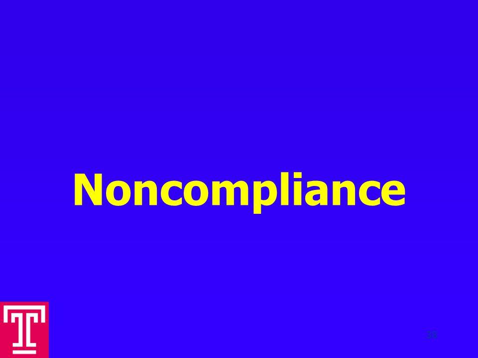 Noncompliance 38