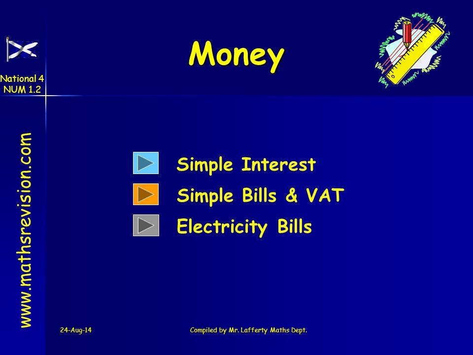 24-Aug-14Created by Mr.Lafferty Maths Dept www.mathsrevision.com Money Problems National 4 NUM 1.2