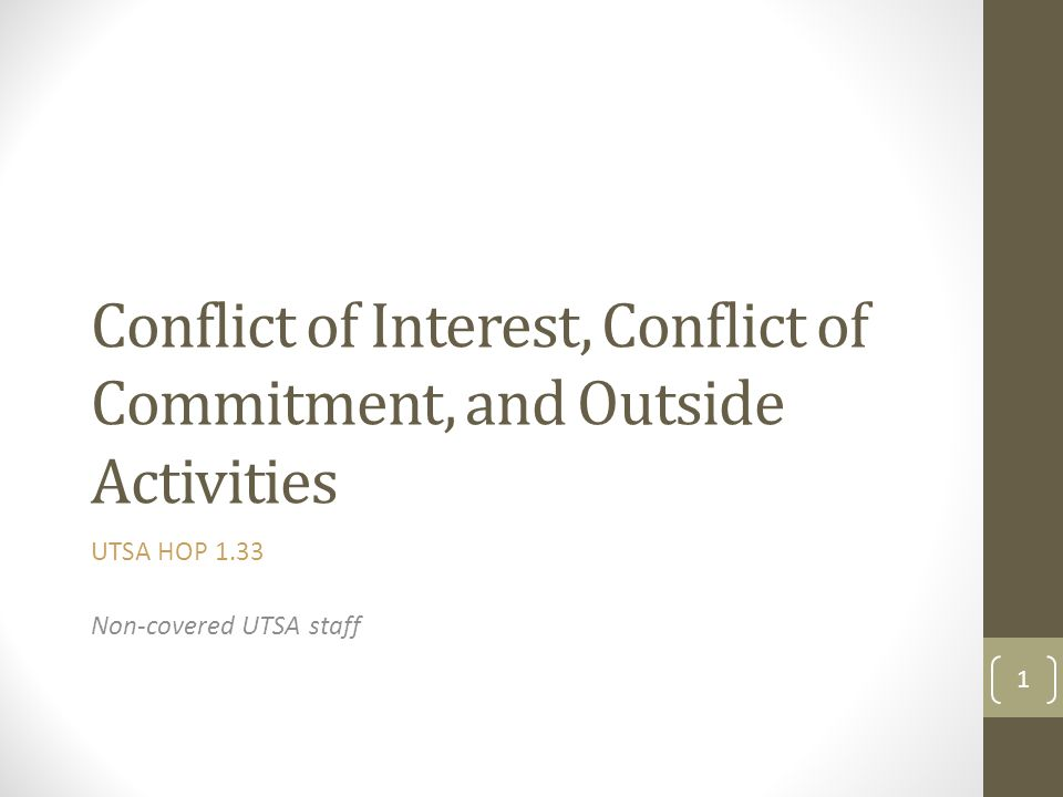 What Is a Conflict of Commitment.