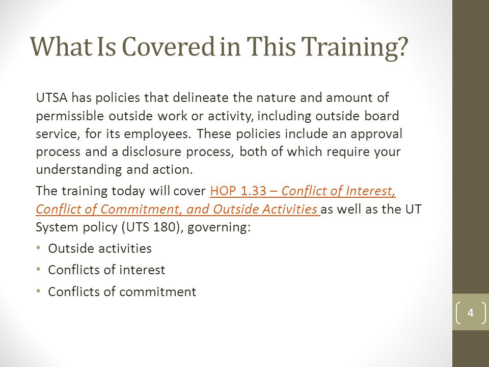 What Is Covered in This Training.