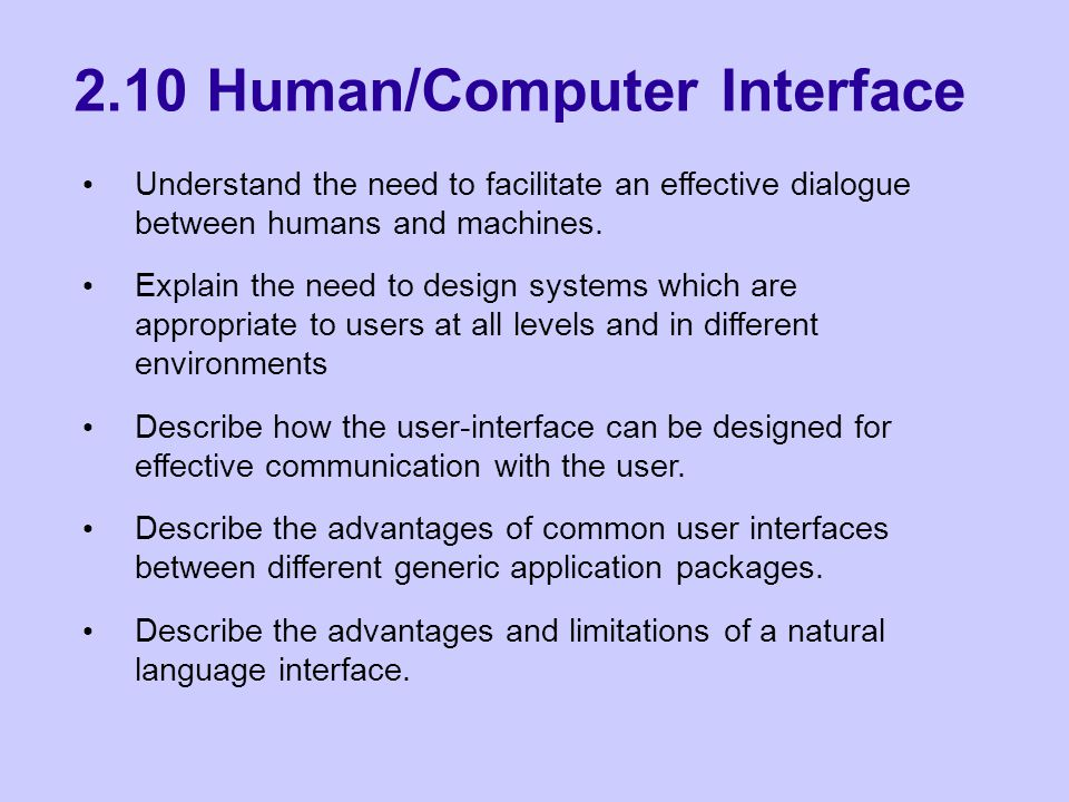What is a User Interface.