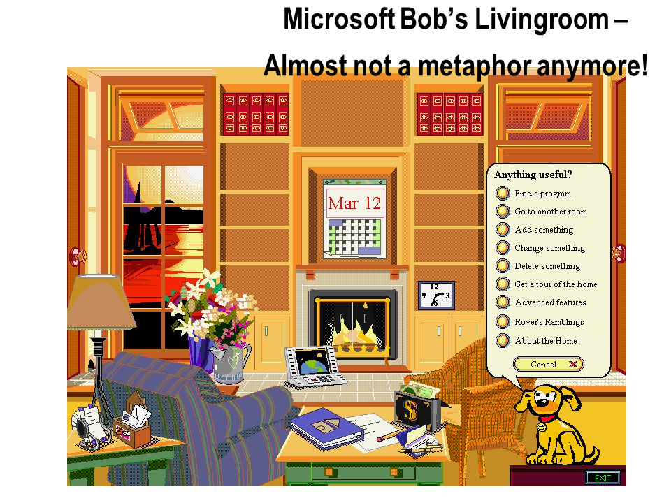 Microsoft Bob's Livingroom – Almost not a metaphor anymore!