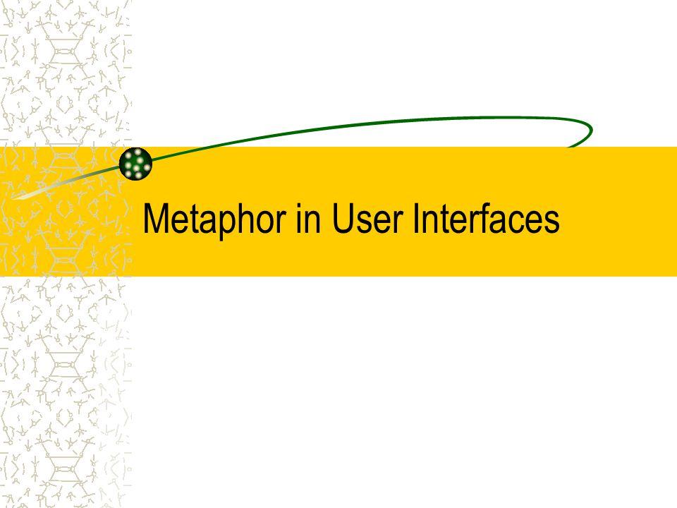 Metaphor in User Interfaces