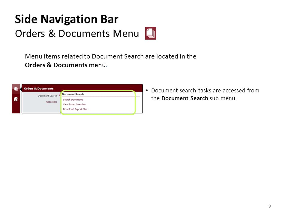 The View Contracts sub-menu contains all options for contract management.
