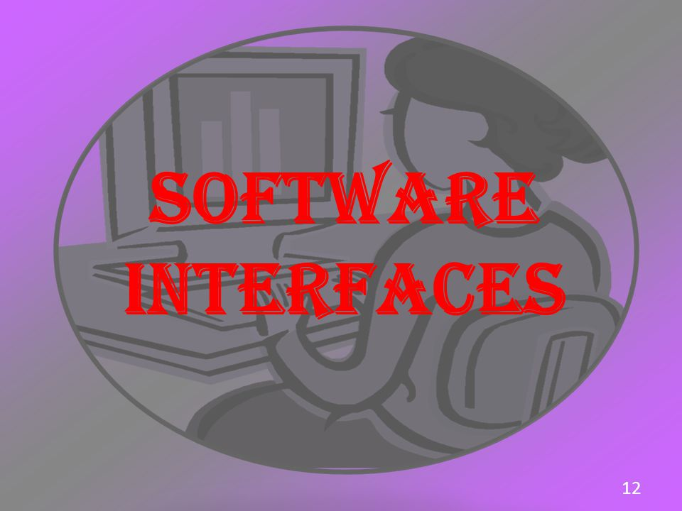 SOFTWARE INTERFACES 12
