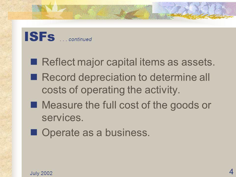 July 2002 74 Establish Funds Administratively...
