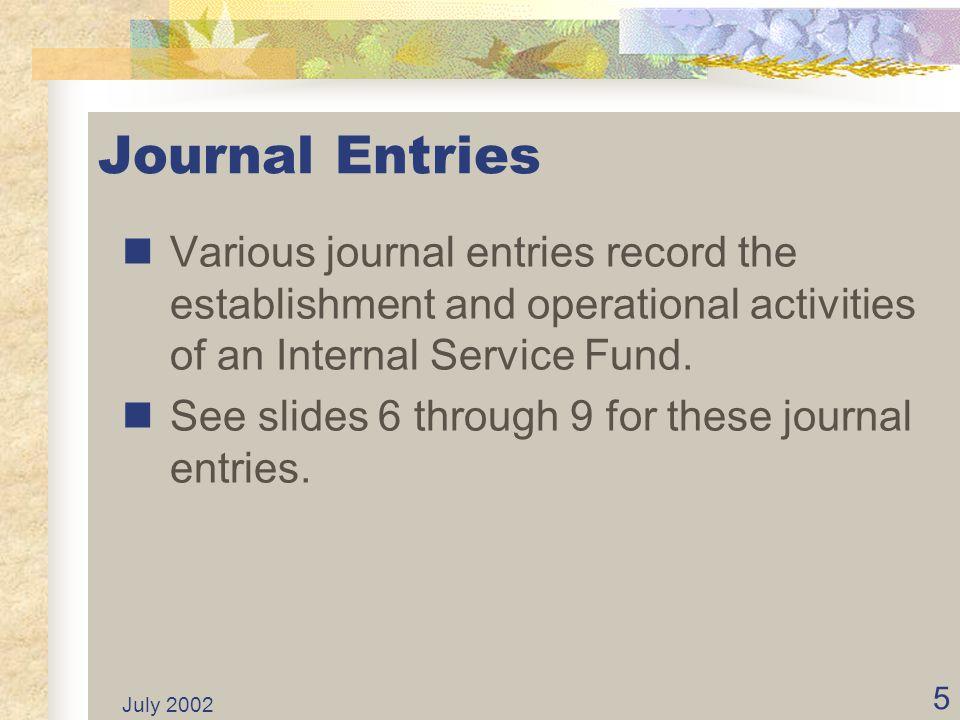 July 2002 15 ISFs Classified...