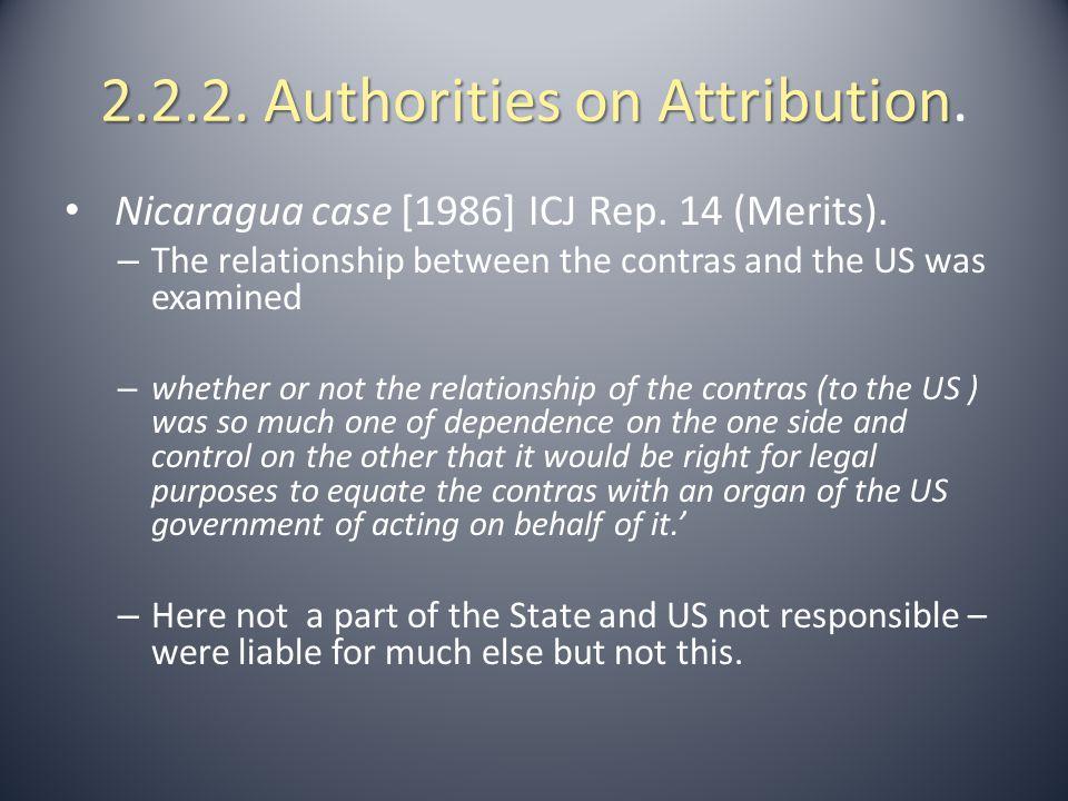 2.2.3.Authorities on Attribution.
