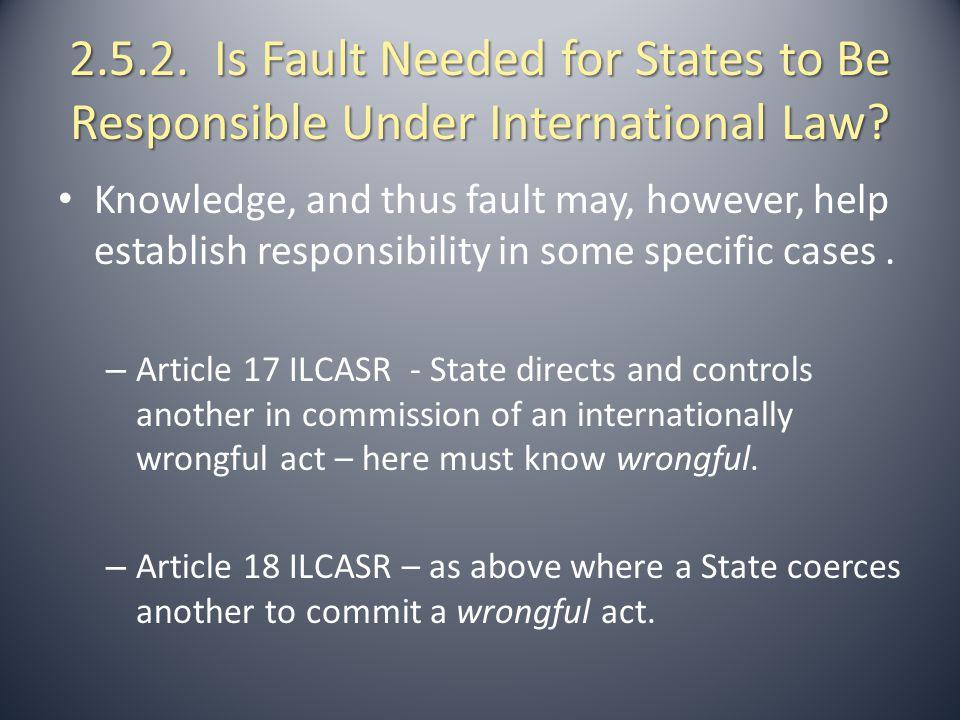 2.6.1.Establishing the Breach of International Obligations.