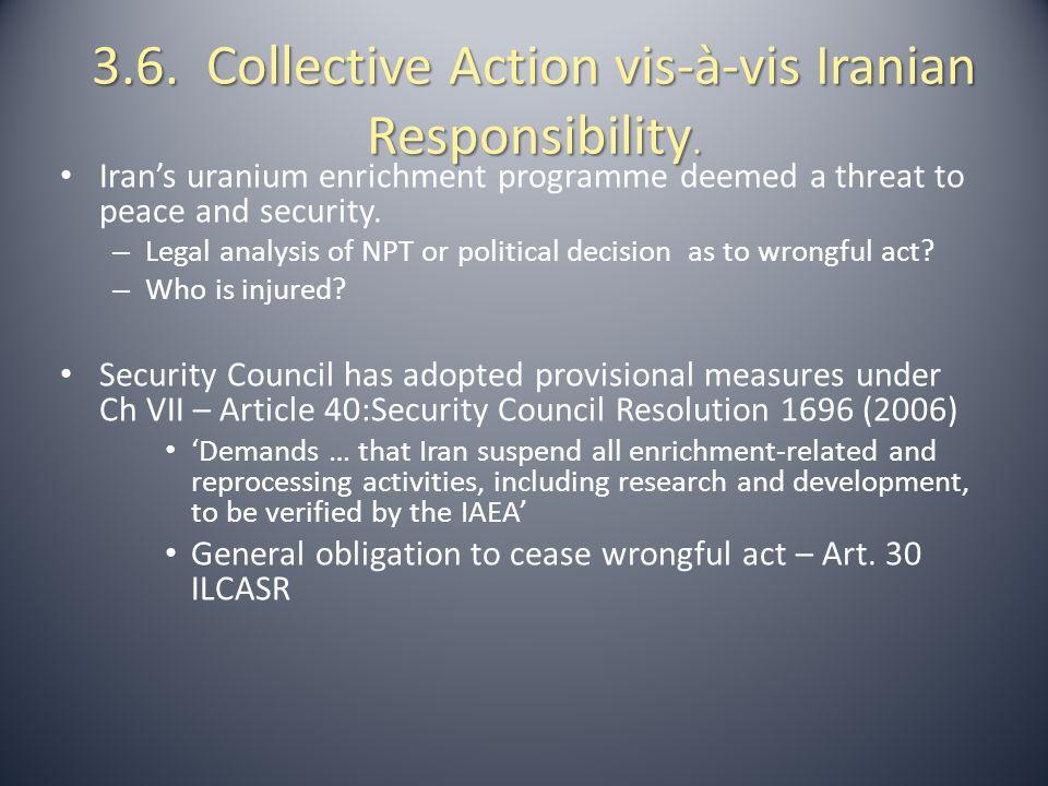 3.7.Collective Action Against Iran So Far.