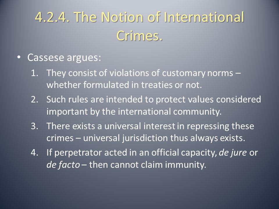 4.2.5.The Elements of International Crimes.