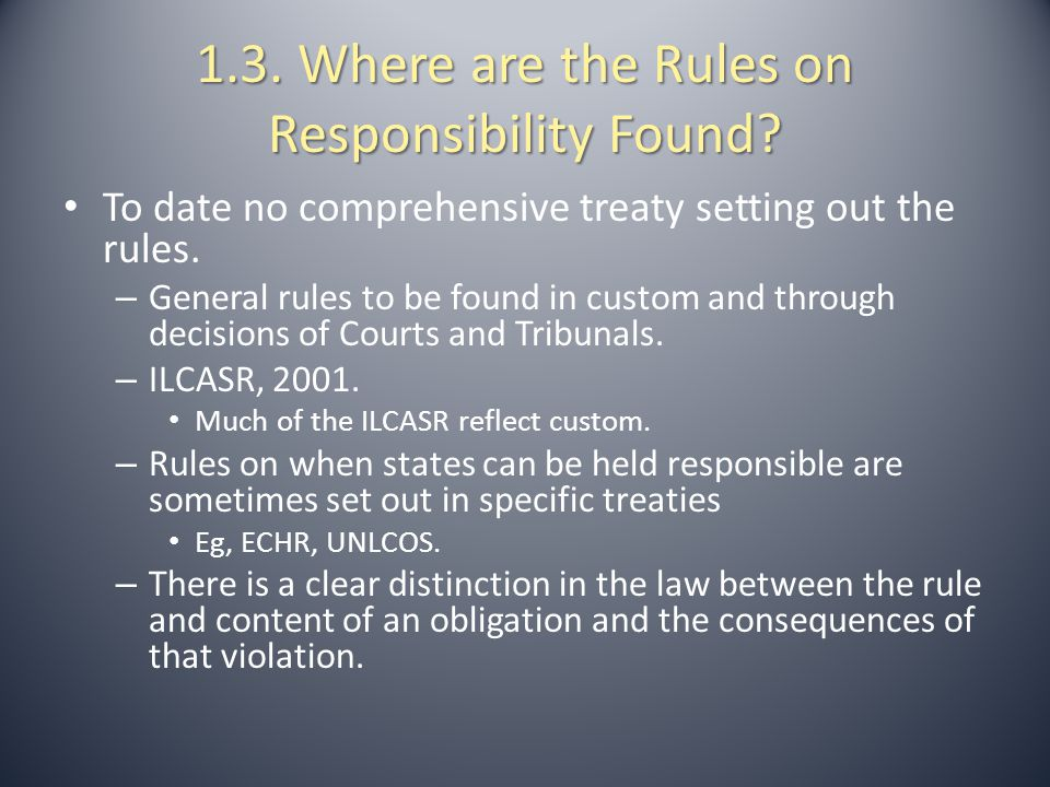 2.1. The Classic Authorities and the ILCASR.