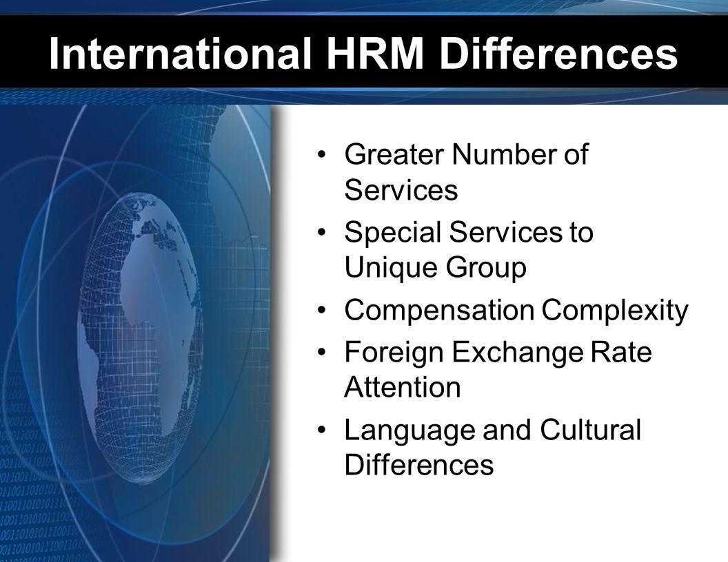 International Mergers and Acquisitions Global Competition Importance of Global Human Resources Management Foreign Human Resources Market Access Opportunities Increasing Importance of Global Human Resources Understanding