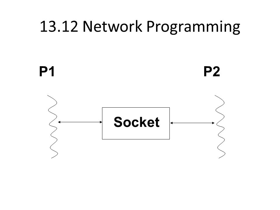 13.12 Network Programming P1 P2 Socket