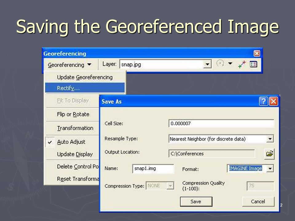 12 Saving the Georeferenced Image