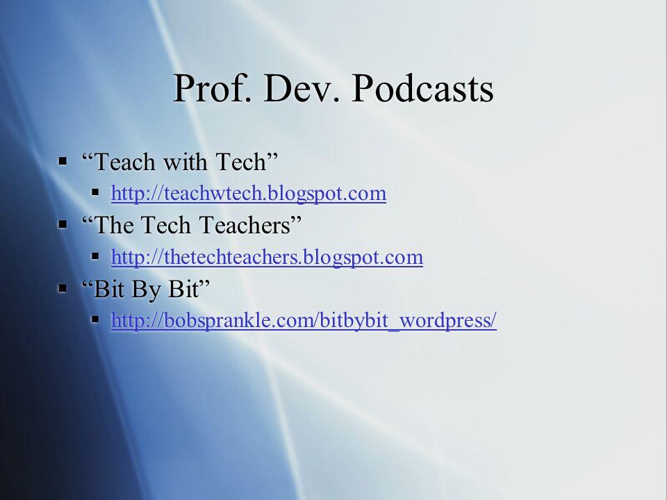 Prof. Dev.