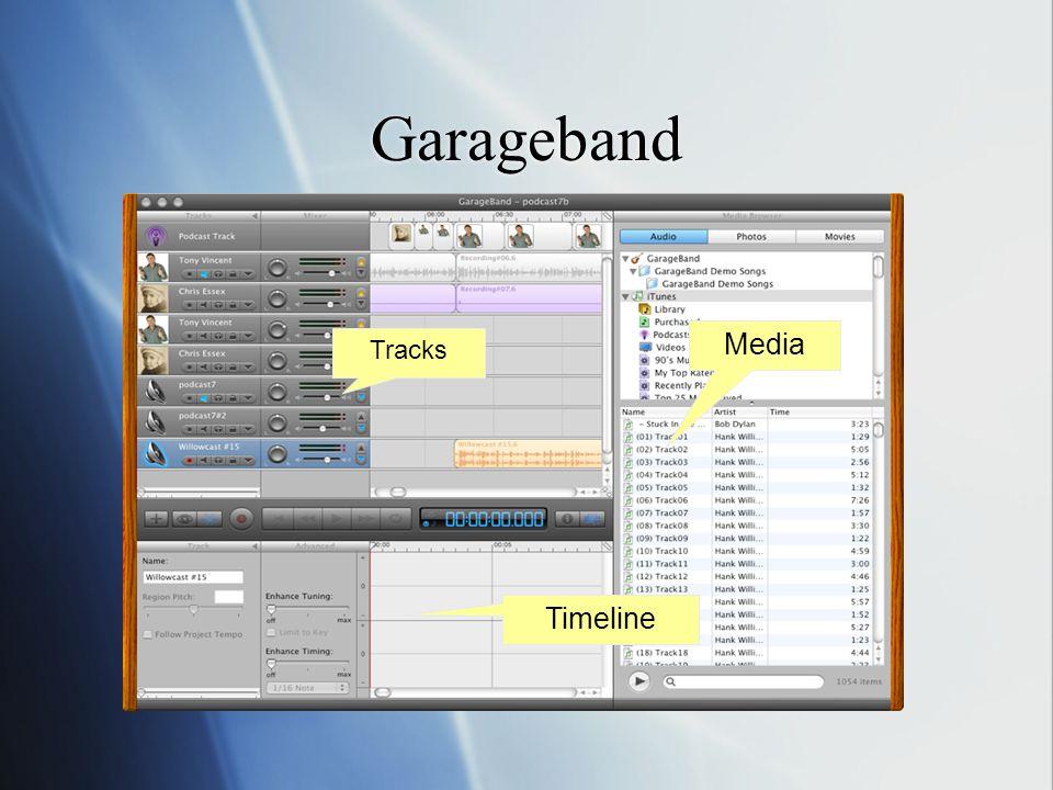 Garageband Tracks Media Timeline