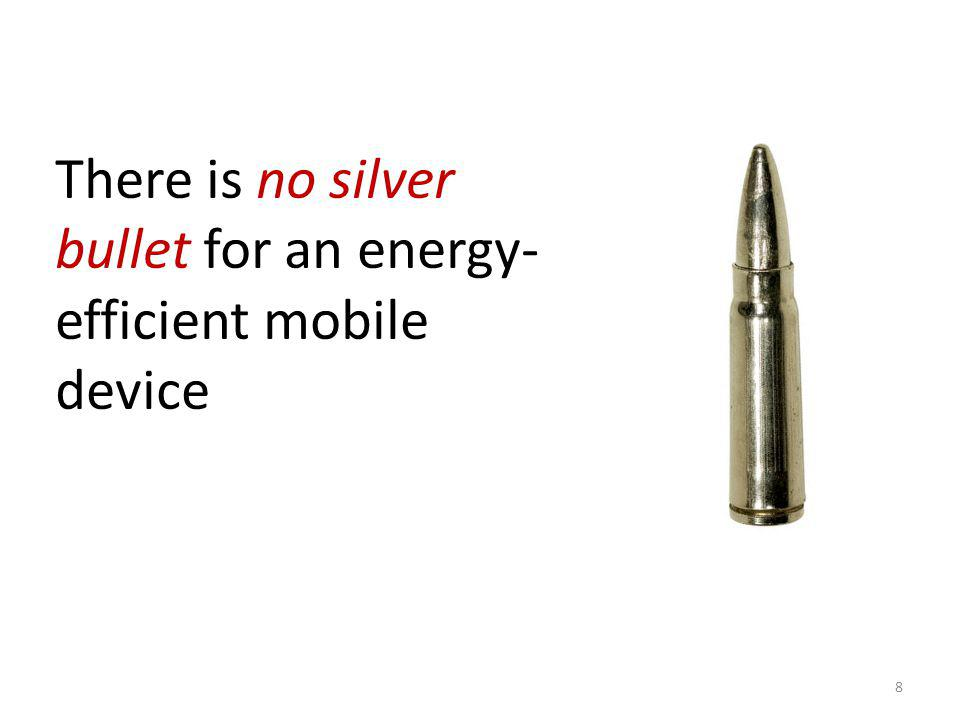 Power profile: T-Mobile MDA 9 Power profile !=Energy profile