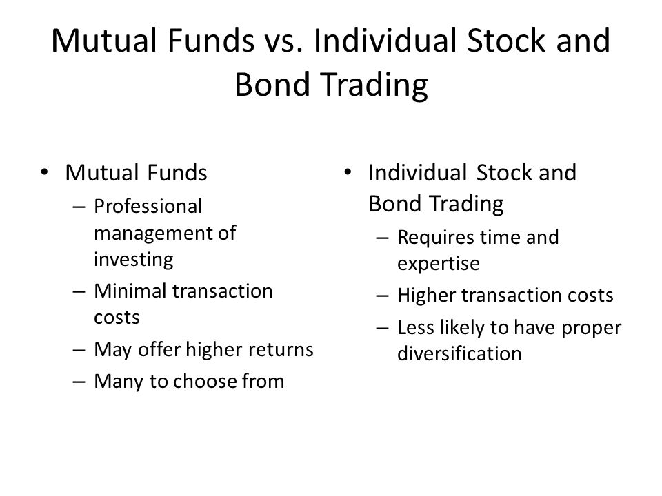 Mutual Funds vs.