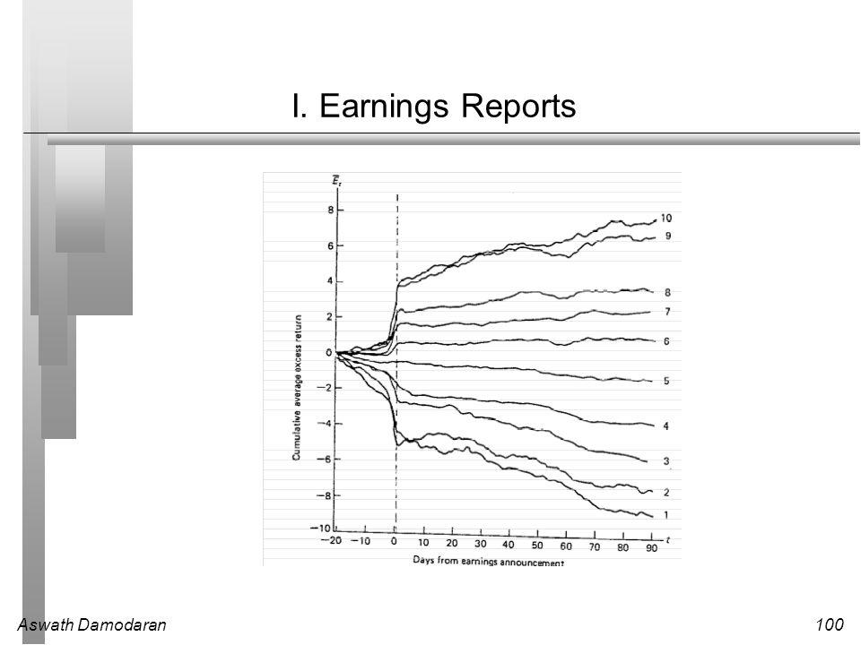 Aswath Damodaran100 I. Earnings Reports
