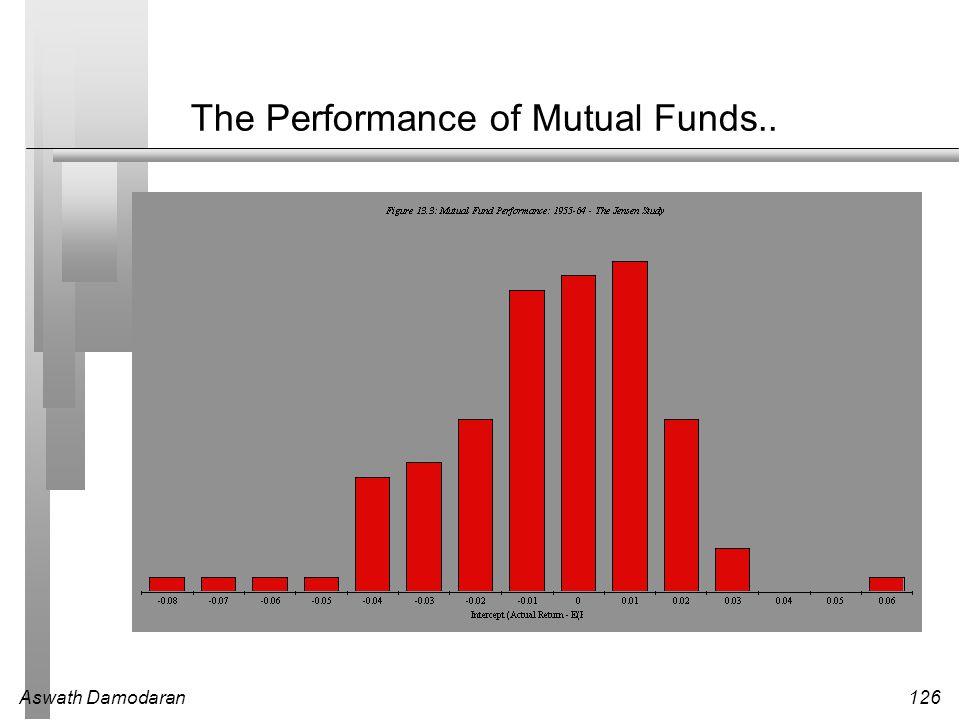 Aswath Damodaran126 The Performance of Mutual Funds..